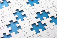 Missing puzzle pieces. Royalty Free Stock Photography