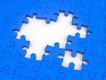 Missing puzzle pieces. Royalty Free Stock Images