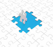 Missing Puzzle Pieces Shows Gaps Royalty Free Stock Photo