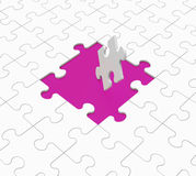 Missing Puzzle Pieces Shows Unsolved Issues Royalty Free Stock Images