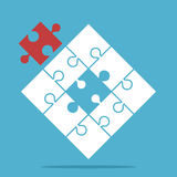Missing red puzzle piece Royalty Free Stock Photography
