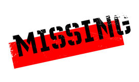 Missing rubber stamp Stock Image