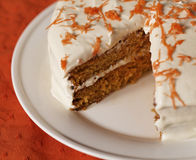 Missing slice carrot cake Stock Photo
