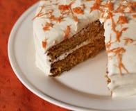 Missing Slice Carrot Cake Stock Photo