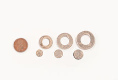 Missing Something?. Conceptual image of missing something with change royalty free stock photos