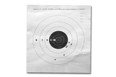 Missing target. A target isolated on a white background Royalty Free Stock Photos