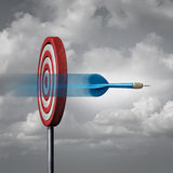 Missing The Target. Concept as a dart way off the mark or bullseye as a metaphor for failure and failing to hit a goal with 3D illustration elements Royalty Free Stock Photo