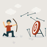 Missing Target. Flat Design Vector Illustration: Business and Financial concept Royalty Free Stock Image