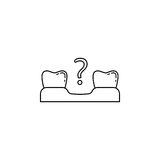 Missing tooth line icon. Dental and medicine, loose tooth vector graphics, a linear pattern on a white background, eps 10 Royalty Free Illustration