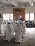Missionários da caridade na oração Imagens de Stock