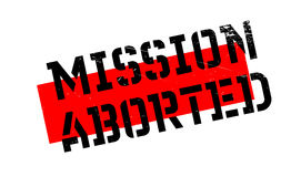 Mission Aborted rubber stamp. Grunge design with dust scratches. Effects can be easily removed for a clean, crisp look. Color is easily changed Stock Photos