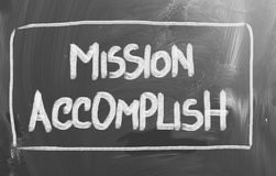 Mission Accomplish Concept. Concept Handwritten With Chalk On A Blackboard royalty free stock image