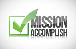 Mission accomplish sign illustration Royalty Free Stock Photography