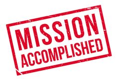 Mission accomplished stamp Royalty Free Stock Image