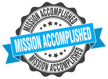 Mission accomplished stamp Royalty Free Stock Images