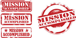 Mission Accomplished Stamps Stock Image