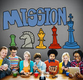 Mission Aim Aspirations Solution Strategy Concept Stock Images