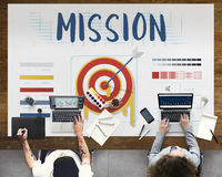 Mission Arrow Target Goals Business Dart Graphic Concept Royalty Free Stock Photos