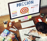 Mission Arrow Target Goals Business Dart Graphic Concept Stock Image