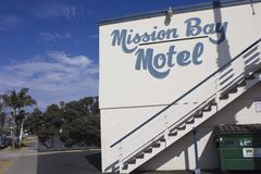 Mission Bay Motel in San Diego Stock Images