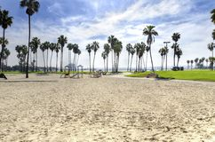 Mission Bay, San Diego, California. The Bonita cove park in southern Mission Bay over the Pacific beach in San Diego, California in the United States of America royalty free stock photos