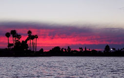 Mission Bay, Sunset. Beautiful sunset at Mission Bay, Pacific Beach, San Diego Stock Photography