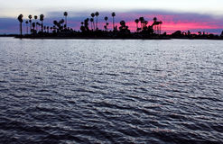 Mission Bay, Sunset, San Diego. Beautiful sunset at Mission Bay, Pacific Beach, San Diego stock photo