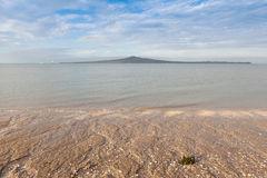 Mission bay view with Rangitoto island background, Auckland, New Royalty Free Stock Image