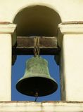 Mission Bell. The bell at the San Juan Bautista Mission, California royalty free stock photo