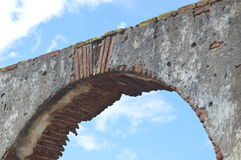 Mission Brick Bridge. Taken at a Spanish California Mission Stock Images