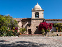 Mission Carmel, colorful exterior Stock Photo