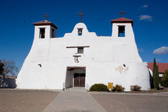 Mission Church. A very old Spanish Mission Church in Isleta, New Mexico stock photo