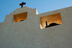 Mission Church. Spanish Mission Church in New Mexico stock image