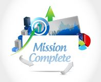 Mission complete business sign concept. Illustration design graphic over white Royalty Free Stock Photography