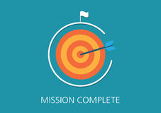 Mission complete concept flat icon Royalty Free Stock Image