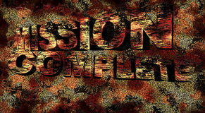 Mission complete grunge 3D text, illustration Royalty Free Stock Photography