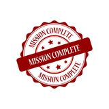 Mission complete stamp illustration. Mission complete red stamp seal illustration design Royalty Free Stock Photos