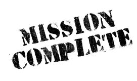 Mission Complete rubber stamp. Grunge design with dust scratches. Effects can be easily removed for a clean, crisp look. Color is easily changed Stock Images