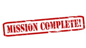 Mission complete. Rubber stamps with text mission complete inside,  illustration Royalty Free Stock Photography