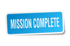 Mission complete square sticker Royalty Free Stock Image