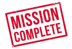 Mission complete stamp Royalty Free Stock Photos