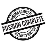 Mission complete stamp Royalty Free Stock Photography