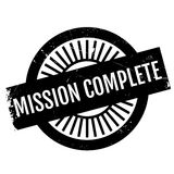 Mission complete stamp Stock Image