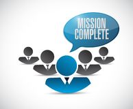 Mission complete teamwork sign concept. Illustration design graphic over white Royalty Free Stock Photography