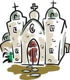 Mission Concepcion. In San Antonio, Texas Stock Illustration