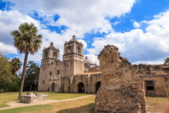 Mission Concepcion, San Antonio, Texas Royalty Free Stock Photos