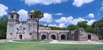 Mission Concepcion in San Antonio, TX. This is Mission Concepcion in San Antonio, TX.  It is one of 5 Spanish missions built in the late 1600s and early 1700s Stock Photo