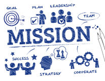 Mission concept royalty free illustration