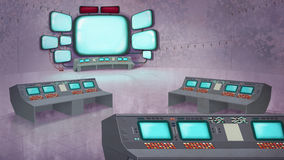 Mission Control Center Royalty Free Stock Photo