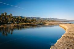 Mission Creek, in Santa Barbara, California. Royalty Free Stock Photography